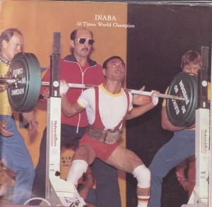 Hideaki Inaba (Japan) - 17x IPF World Champion - in an early generation squat suit & knee wraps