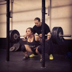 1 year ago (to this exact day), when I accidentally squatted 315x2 (misloaded the bar)